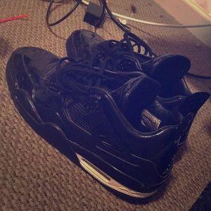 Jordan's 4's black leather